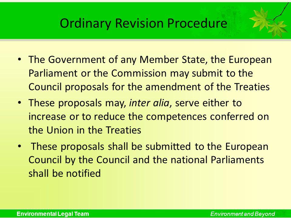 Ordinary Revision Procedure