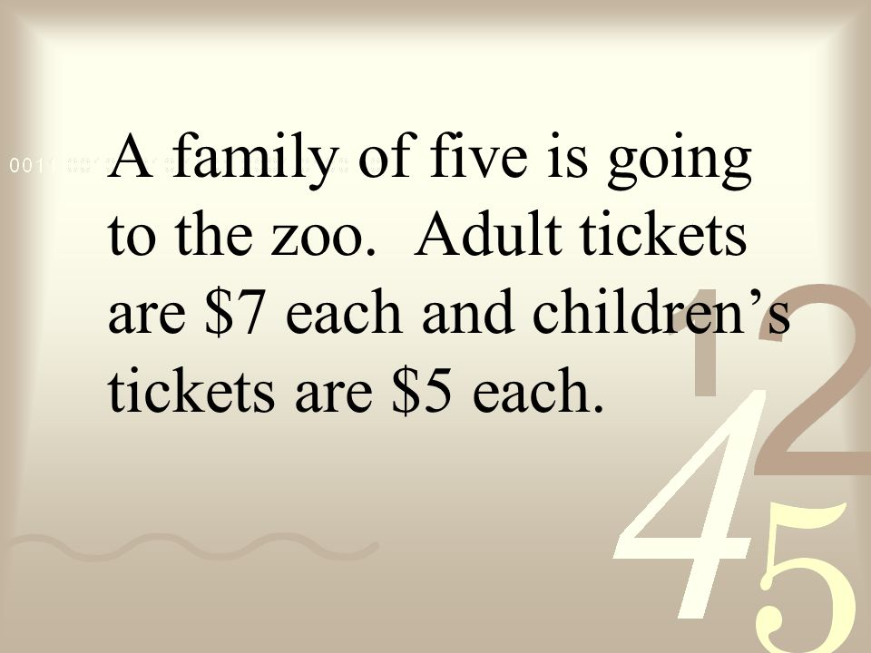 A family of five is going to the zoo