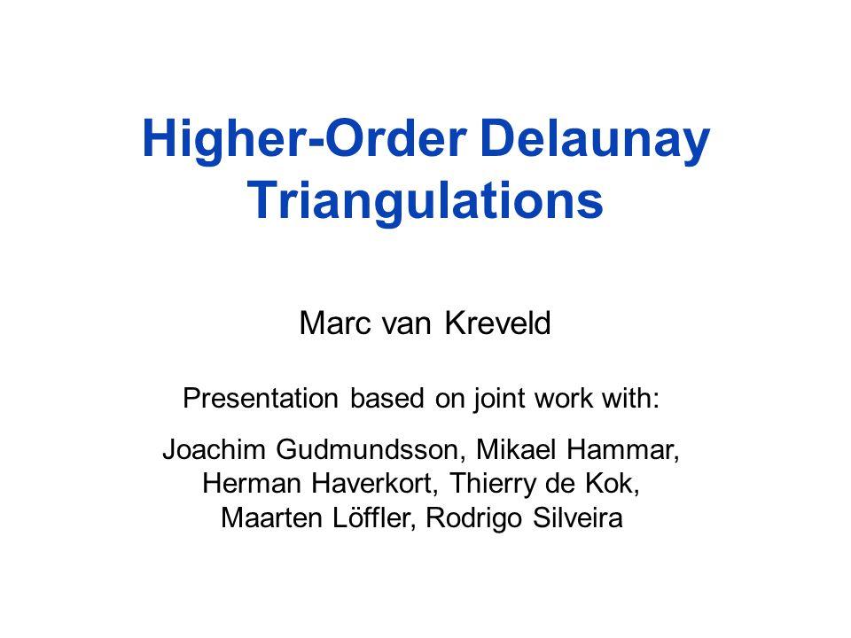 Higher-Order Delaunay Triangulations