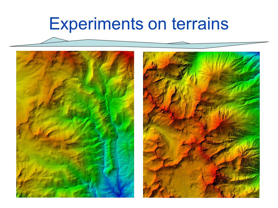 Experiments on terrains