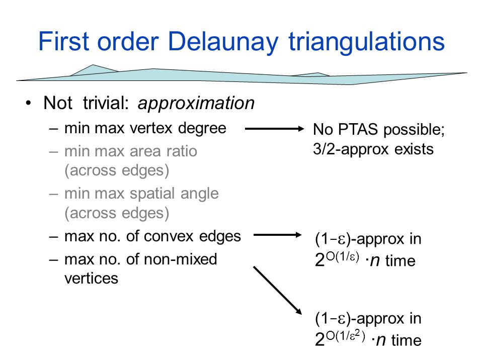 First order Delaunay triangulations