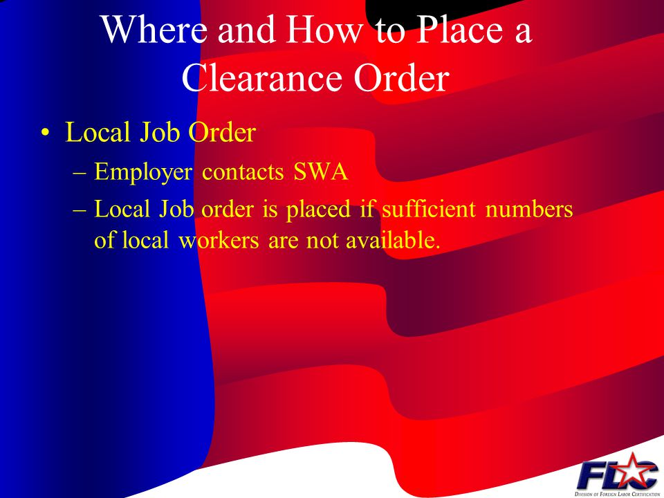 Where and How to Place a Clearance Order