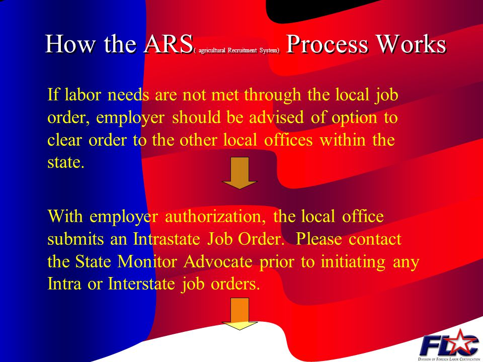 How the ARS( agricultural Recruitment System) Process Works