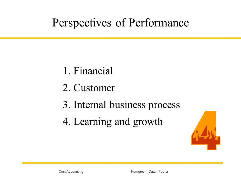 Perspectives of Performance