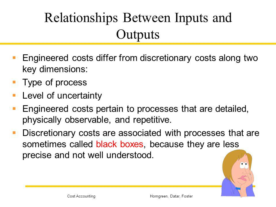 Relationships Between Inputs and Outputs