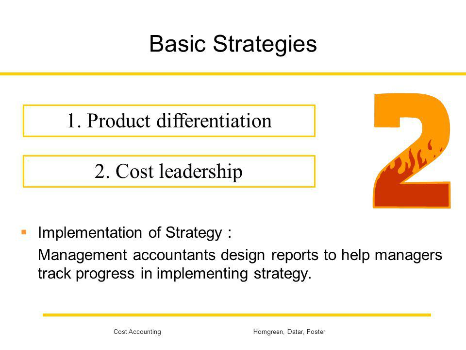 1. Product differentiation