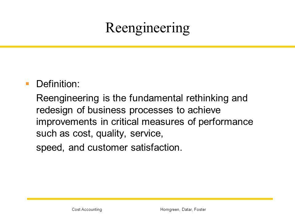 Reengineering Definition: