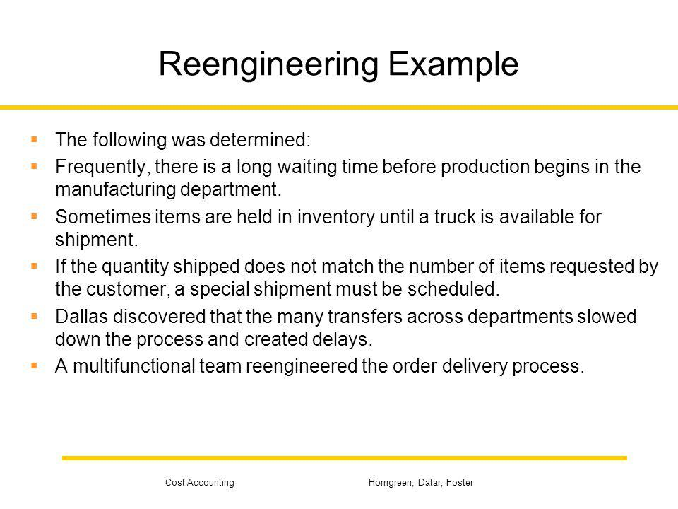Reengineering Example