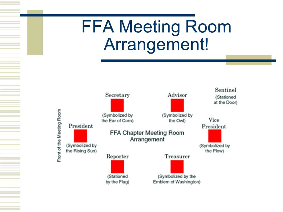 FFA Meeting Room Arrangement!