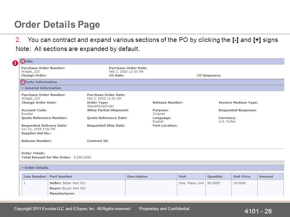 Order Details Page - POC