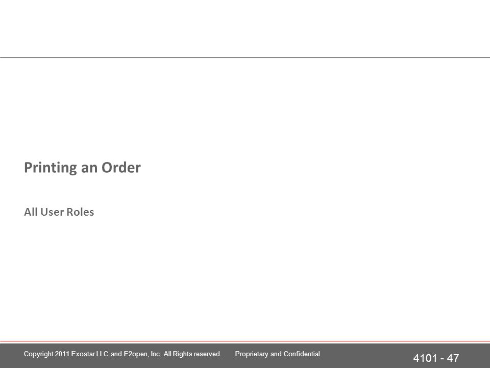 Printing an Order at the Order Details page