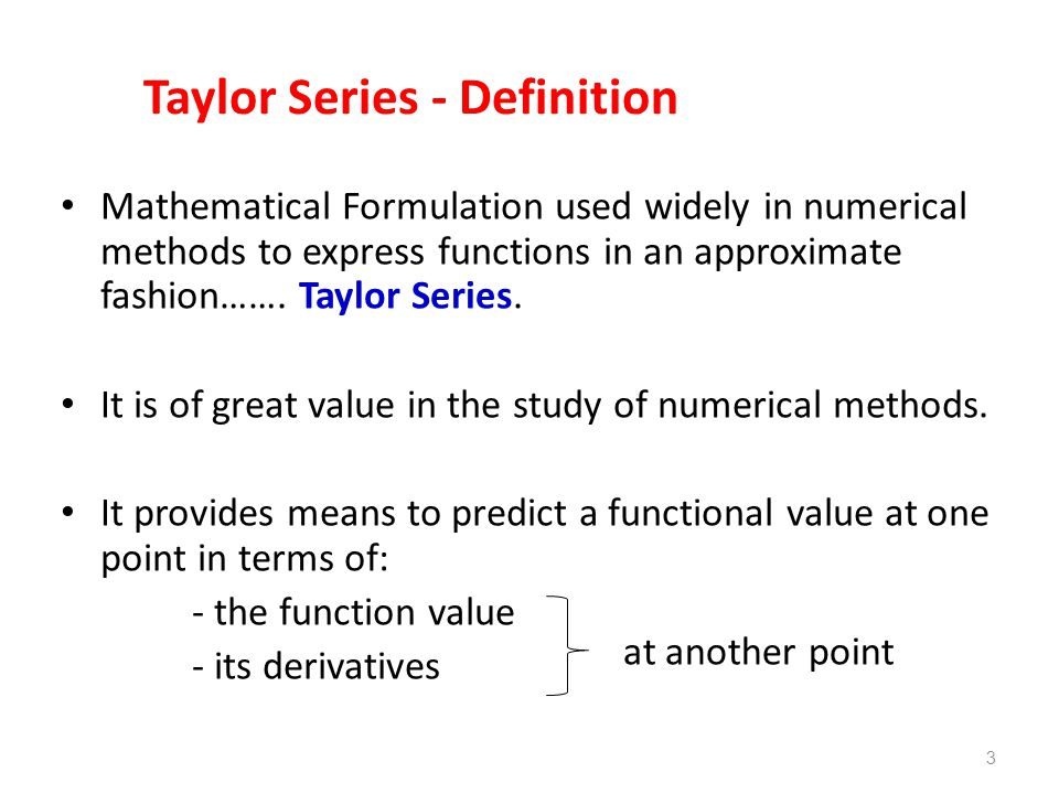 Taylor Series - Definition