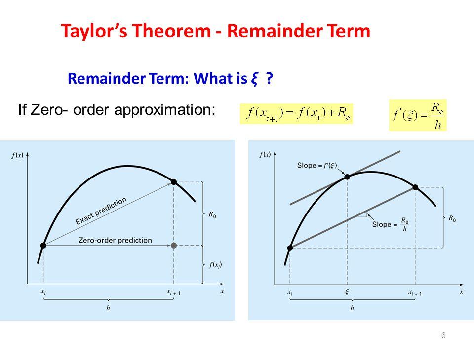 Taylor's Theorem - Remainder Term