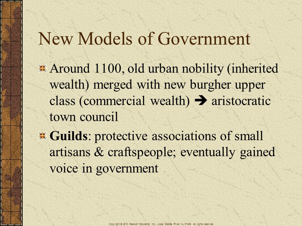 New Models of Government