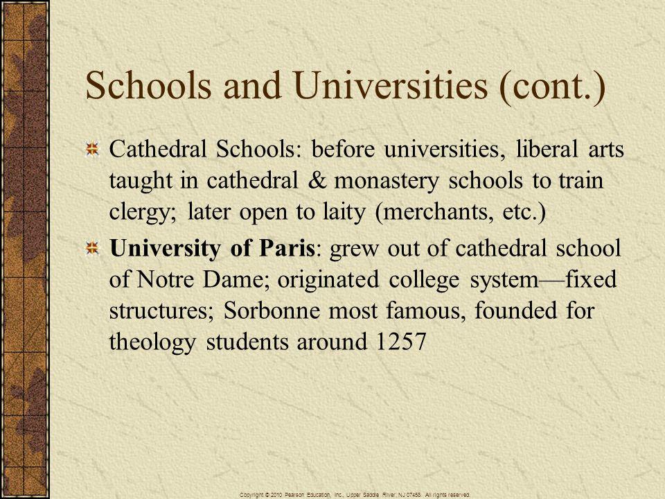 Schools and Universities (cont.)