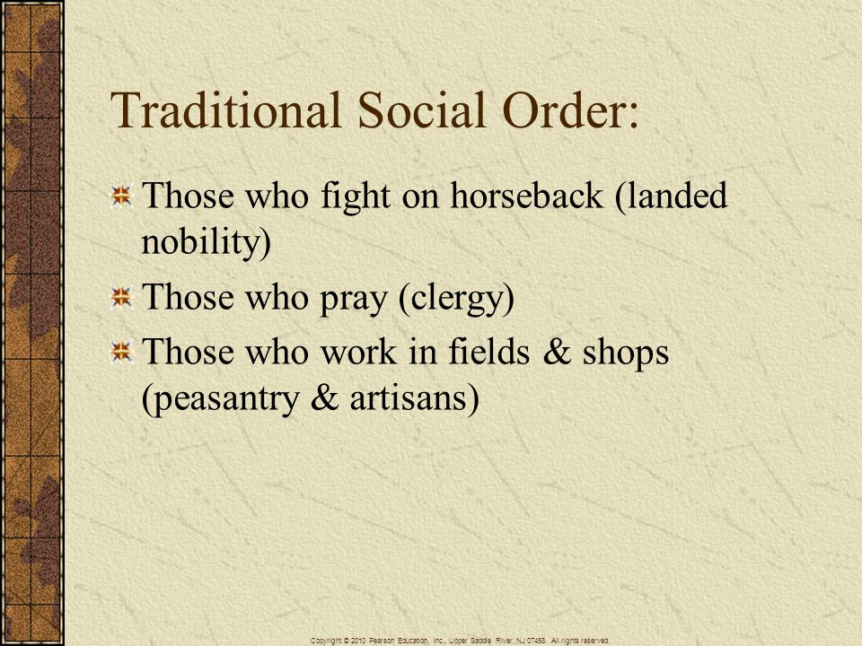 Traditional Social Order: