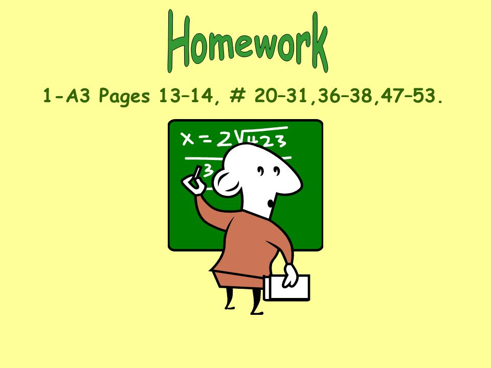 Homework 1-A3 Pages 13–14, # 20–31,36–38,47–53.