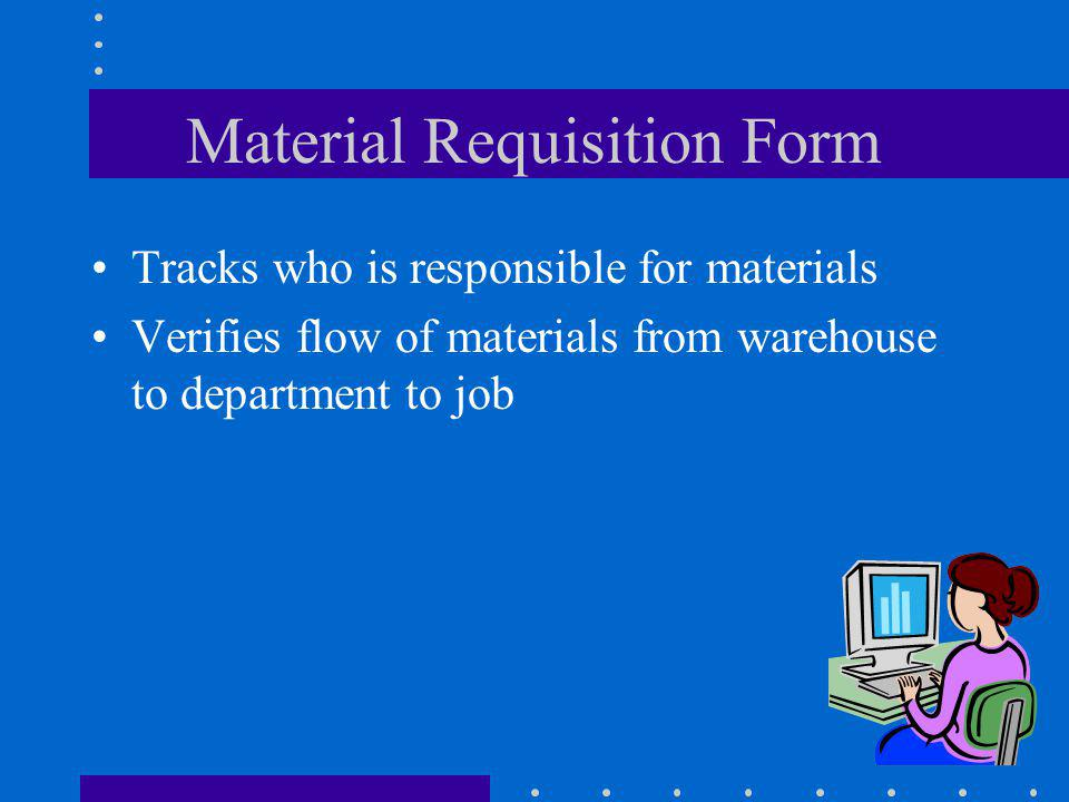 Material Requisition Form