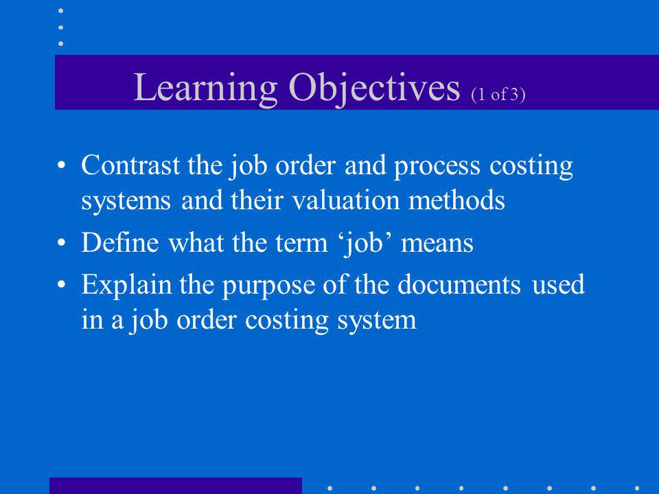 Learning Objectives (1 of 3)
