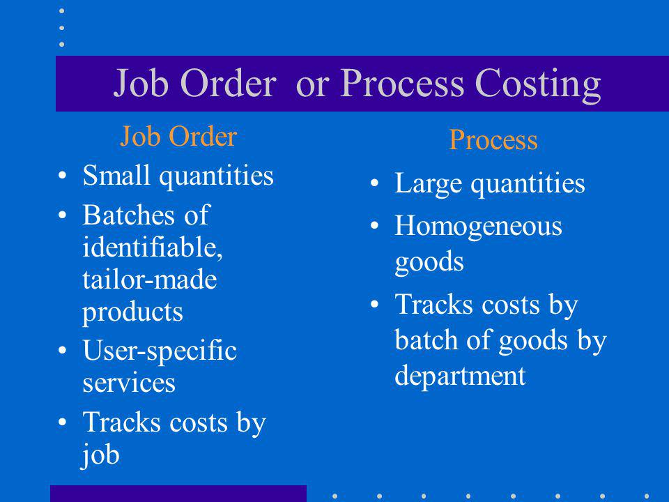 Job Order or Process Costing