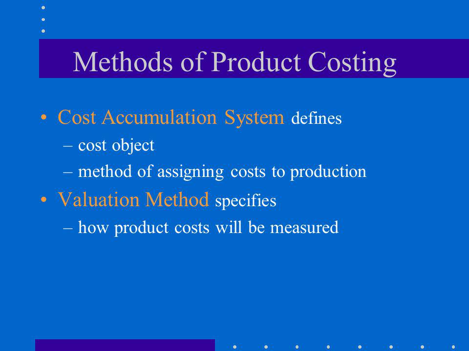 Methods of Product Costing