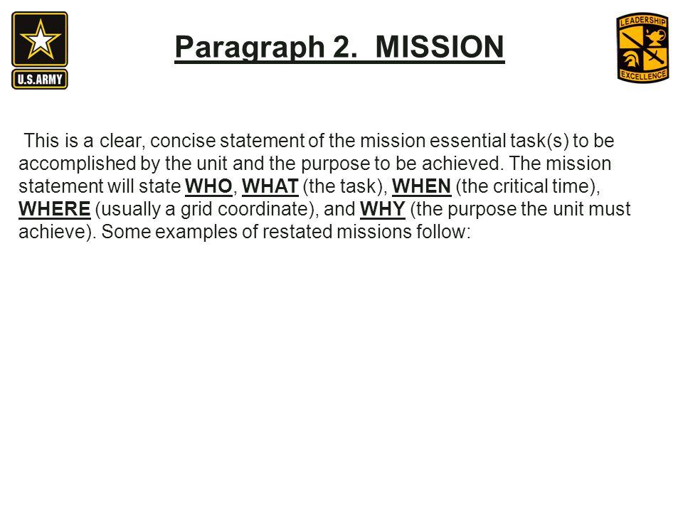 Paragraph 2. MISSION