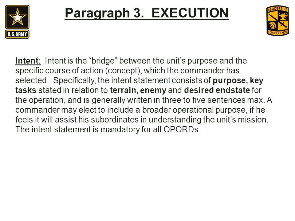 Paragraph 3. EXECUTION