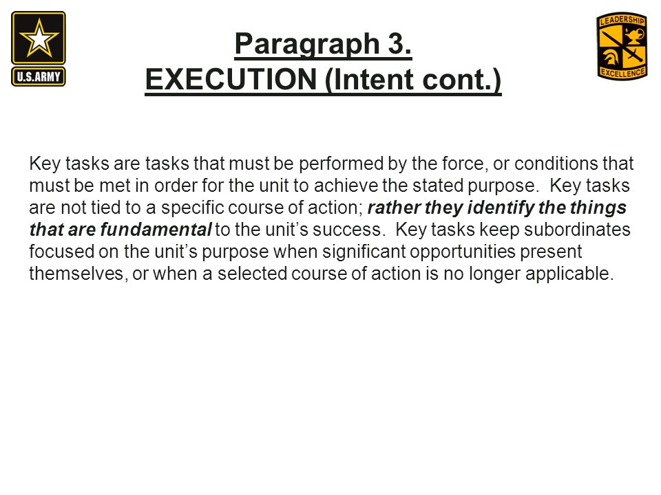 EXECUTION (Intent cont.)