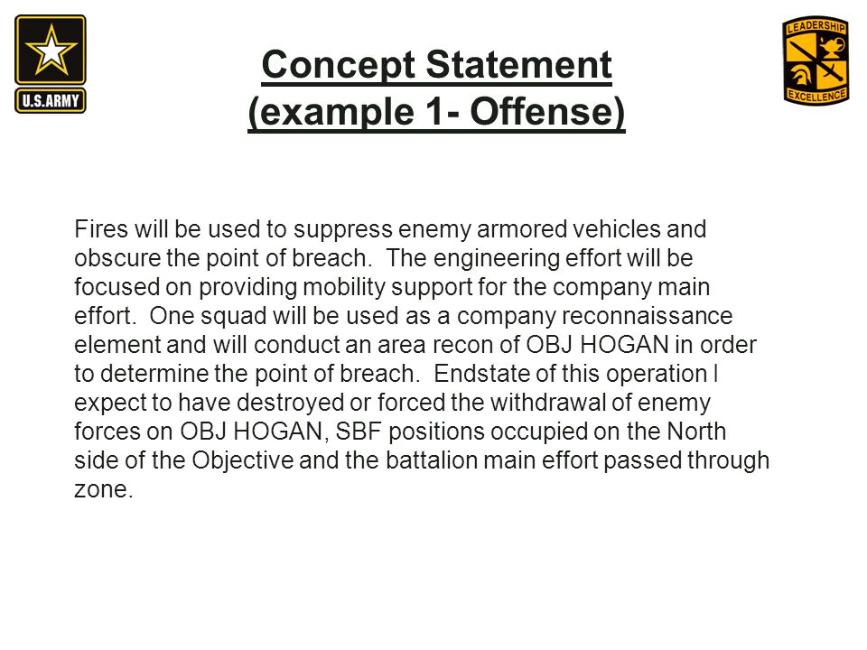 Concept Statement (example 1- Offense)