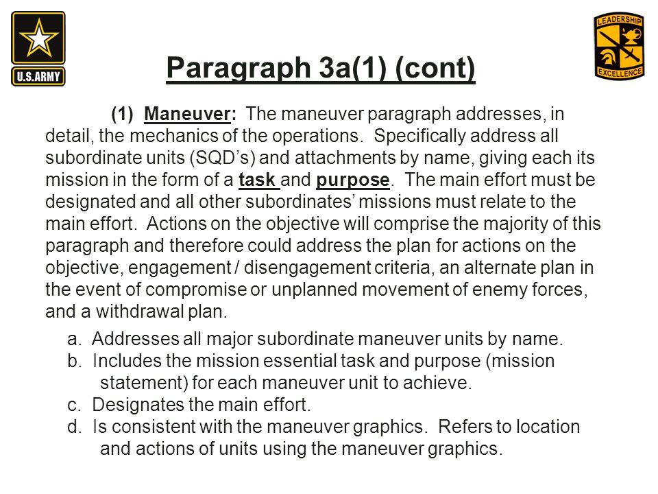 Paragraph 3a(1) (cont)