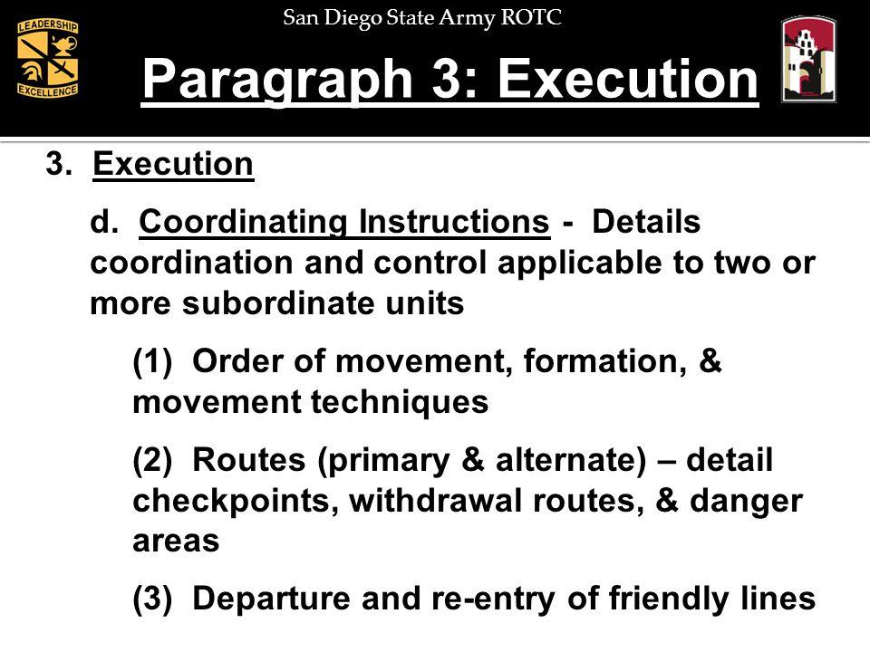 Paragraph 3: Execution 3. Execution