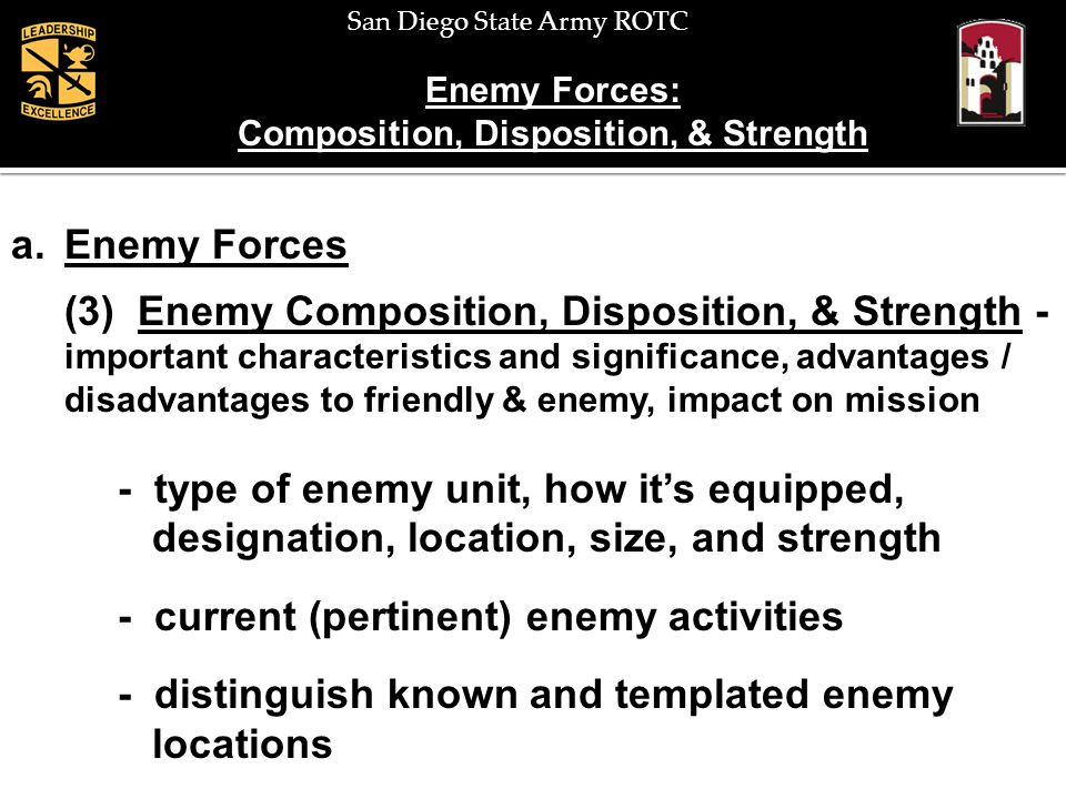 Composition, Disposition, & Strength