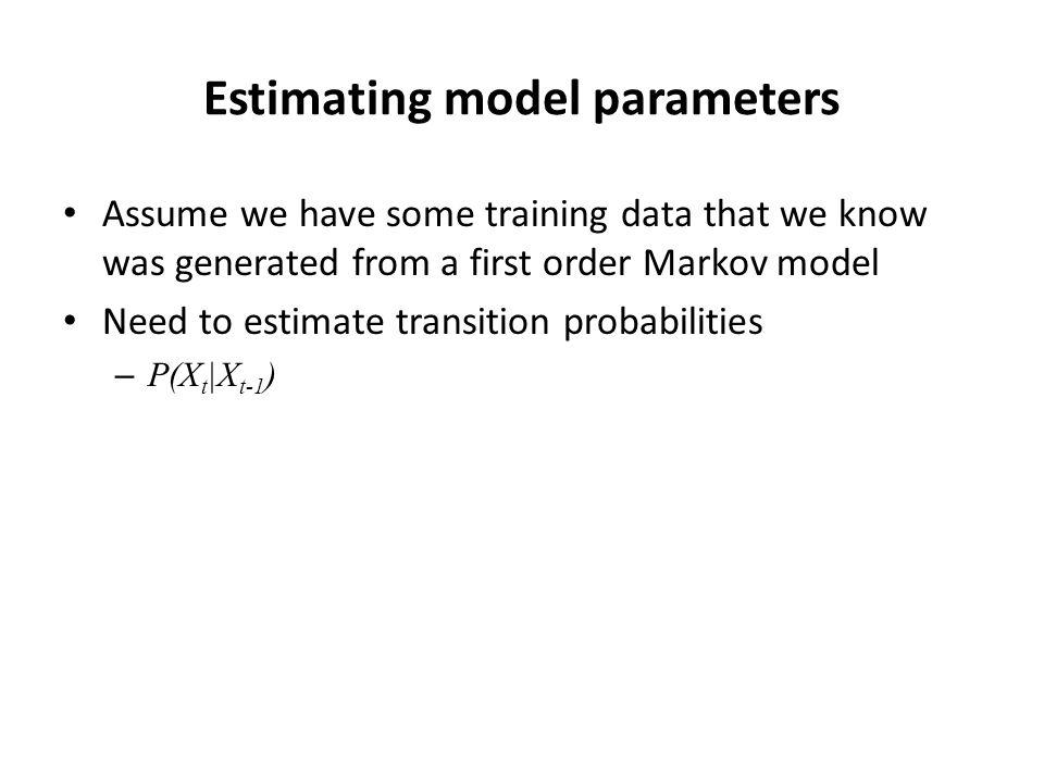 Estimating model parameters