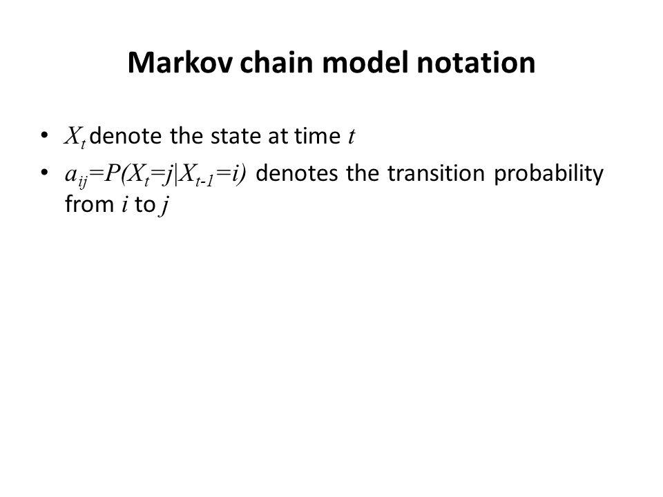 Markov chain model notation