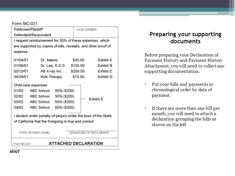 Preparing your supporting documents