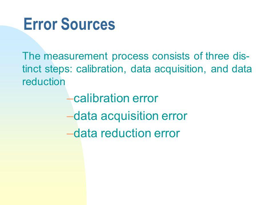 Error Sources calibration error data acquisition error