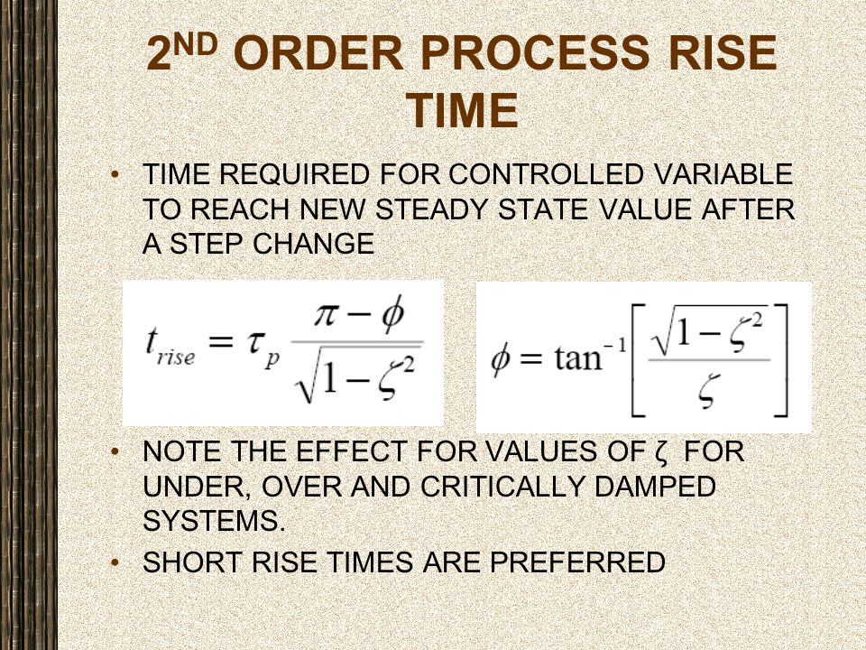 2ND ORDER PROCESS RISE TIME