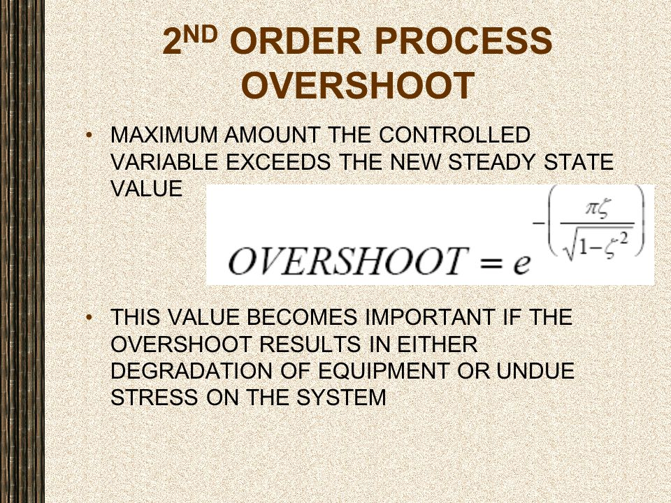 2ND ORDER PROCESS OVERSHOOT
