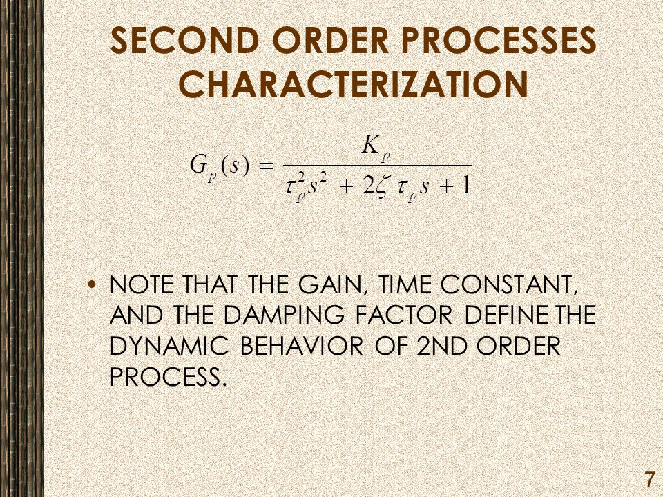 SECOND ORDER PROCESSES CHARACTERIZATION