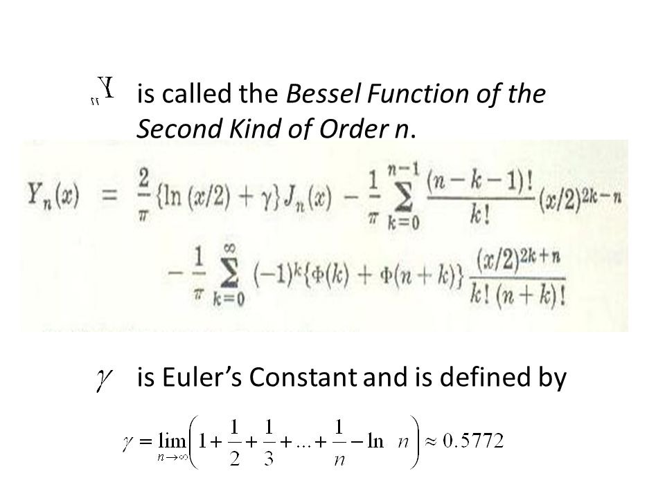 is called the Bessel Function of the Second Kind of Order n