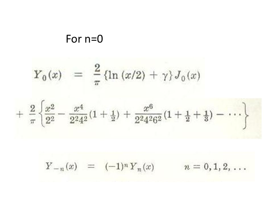 For n=0