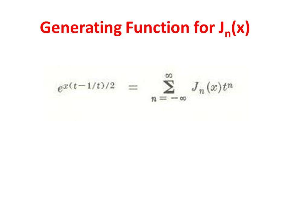 Generating Function for Jn(x)