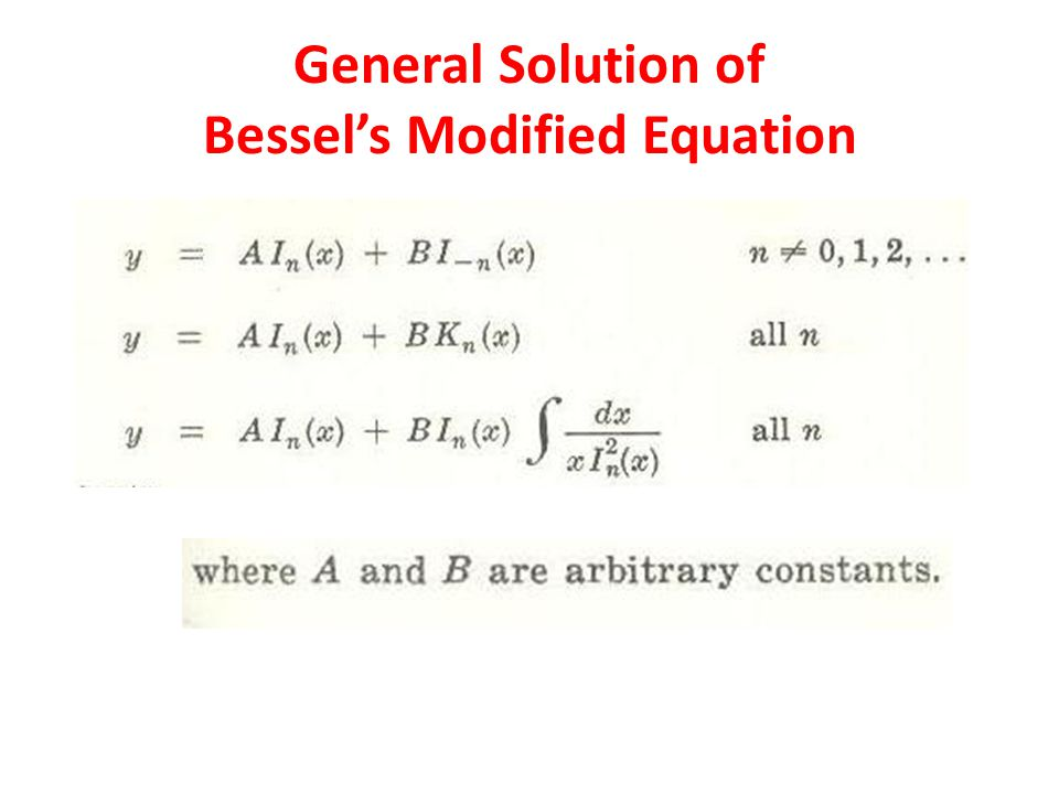 General Solution of Bessel's Modified Equation