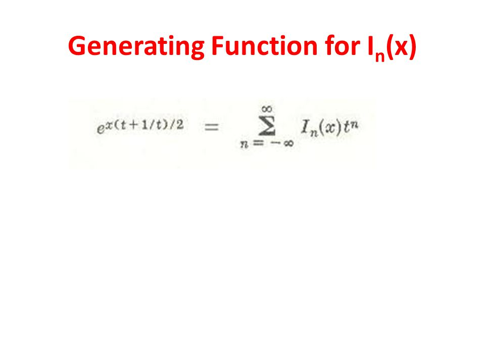 Generating Function for In(x)