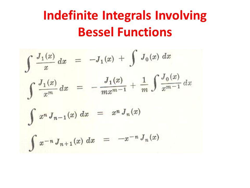 Indefinite Integrals Involving Bessel Functions