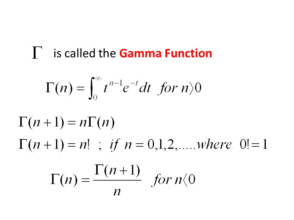 is called the Gamma Function