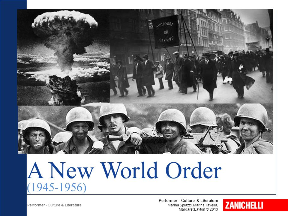 A New World Order (1945-1956) Performer - Culture & Literature