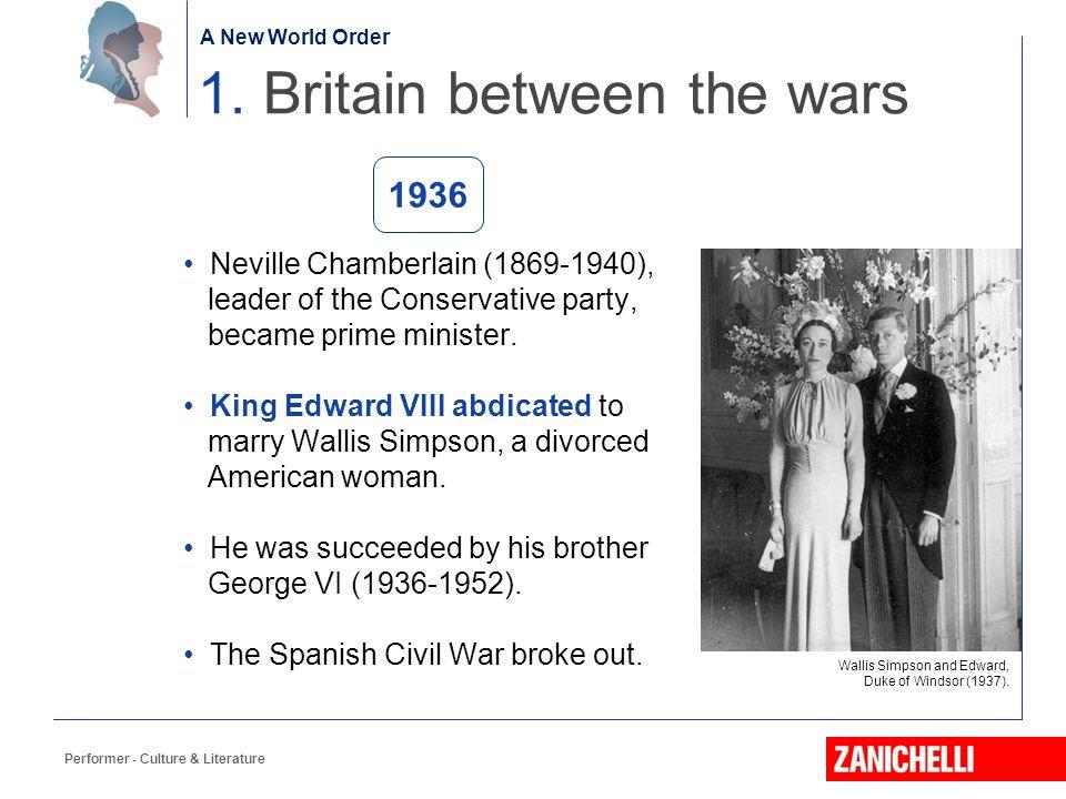 1. Britain between the wars