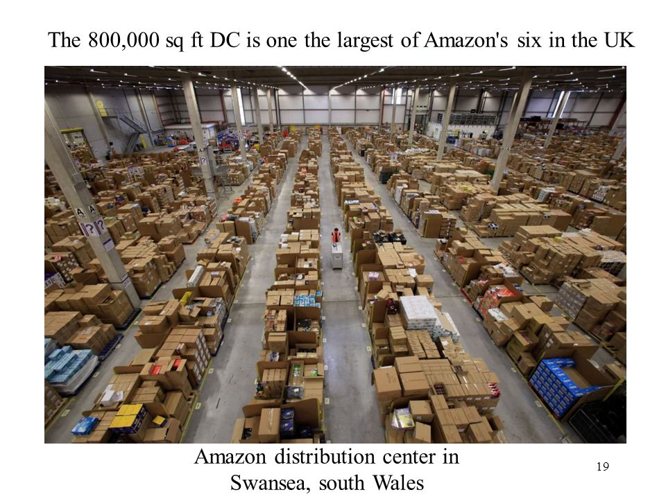 The 800,000 sq ft DC is one the largest of Amazon s six in the UK