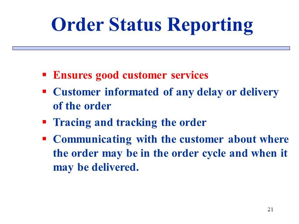 Order Status Reporting
